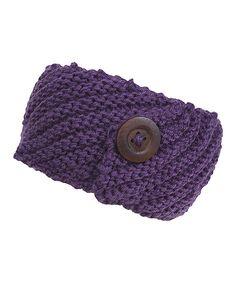 Loving this Plum Button Head Wrap on #zulily! #zulilyfinds