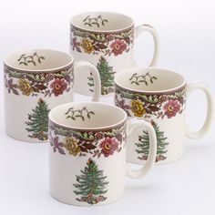 Spode Woodland Grove Mug Set of 4