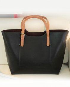 Black Single-Shoulder Simple Design Big Bag