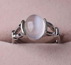 Free Shipping Twilight Jewelry BELLA Swan Silver MOONSTONE Ring Wedding Cullen Vampire Breaking Dawn Engagement Size:6-10 $10