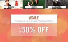 Save up to 50% on premium brands including #Barbour #Hunter #CanadaGoose #sale http://www.countryattire.com/sale.html