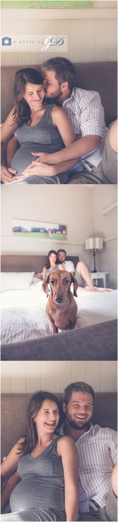 Maternity photos with dog , Maternity Photos , maternity photo ideas #maternity #lifestylematernity #dachshund