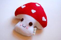 Mushy Mushy Mushroom Plush Toy / Eco Friendly. $
