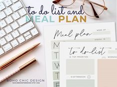 Get organized, Set your monthly goals, plan your meals and eat healthy with the weekly meal planner and to do list bundle kit and use the grocery list to stay on budget and save money with your coupons! Instant Download, files available after purchase Check out my Monthly planners