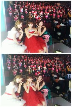 Girls' Generation's Tiffany snaps a holiday photo with TTS backstage and wishes fans a Merry...