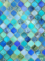Bilderesultat for blue ombre floor tiles