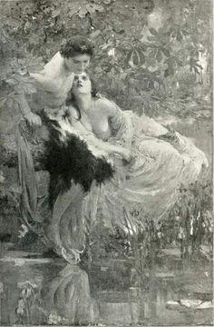 Echo and Narcissus  Solomon J. Solomon  1895