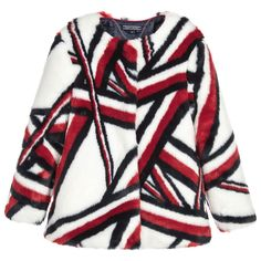 b121df627d91c0 Girls Faux Fur Jacket. Tommy Hilfiger GirlKids ...