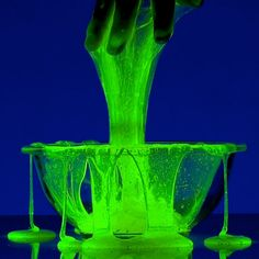 Atomic Slime   Steve Spangler Science Halloween 2014, Halloween Birthday, Spooky Halloween, Holidays Halloween, Halloween Light Show, Birthday Ideas, Halloween Activities, Halloween Themes, Halloween Crafts