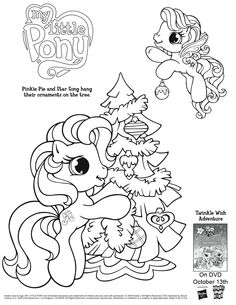 "print off My Little Pony colouring pages for my 2 year old who is obsessed with ""Ponies"".  #GiveLoveHP"
