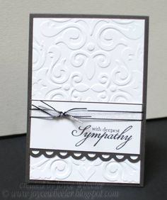 Simple Sympathy by Jay Dub - Cards and Paper Crafts at Splitcoaststampers Card Making Tips, Making Ideas, Sympathy Thank You Cards, Masculine Birthday Cards, Card Sentiments, Embossed Cards, Scrapbook Cards, Scrapbooking, Pretty Cards
