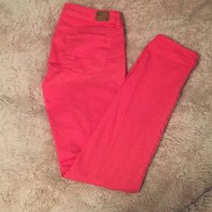 American Eagle Salmon Colored, Skinny Jeans American Eagle. Salmon Pink Colored. Skinny Jeans. Size 4. Perfect condition. American Eagle Outfitters Jeans Skinny
