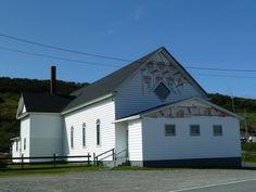 St.Vincent's-St. Stephen's-Peter's River (église Sacred Heart), Terre-Neuve-et-Labrador, Canada (46.801806, -53.636316)