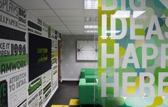 Window Graphics to divide a chill out zone from the office!