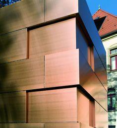 Façade ventilée en cuivre à Osnabrück, Allemagne. Copper façade. #copper, #cuivre, #rame, #kupfer, #cobre
