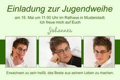 Einladungen & Einladungskarten zur Jugendweihe online gestalten und bestellen - Dankeskarten, Danksagungen, Einladungskarten online bestellen, drucken, gestalten