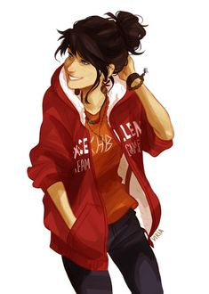 Viria drew herself as a demigod for the PJO Fanzine! I love this <3 Viria is amazing.