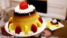 - January 08 2019 at - Foods and Inspiration - Yummy Sweet Meals - Comfort Foods Recipe Ideas - And Kitchen Motivation - Delicious Cakes - Food Addiction Pictures - Decadent Lifestyle Choices Cute Food, Good Food, Yummy Food, Flan, Desserts Japonais, My Favorite Food, Favorite Recipes, Food Obsession, Bakery Recipes