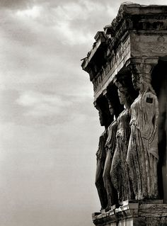 Damned / Condenadas  (by . SantiMB .)    The Caryatid Porch of the Erechtheion, Athens, 421–407 BC