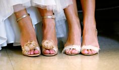 Feathered-Gold-Shoes for bridesmaid and bride