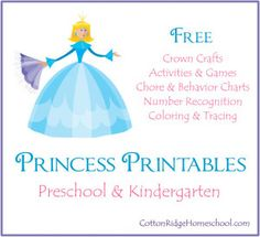 Princess Printables ~ Free Crafts, Games, and Educational Activities For Your Royal Highness