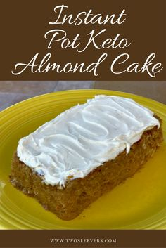 Instant Pot Keto Gluten-Free Coconut Almond Cake. Easy, delicious, keto cake in your pressure cooker. One of my best cake recipes.  twosleevers.com