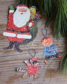 Christmas Ornaments from Vintage Children's Books