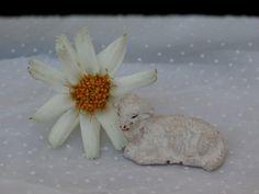 Resting Lamb Nativity Set Figure 1 X 1.5 inches, $2.99