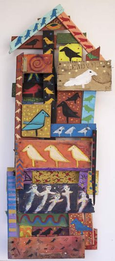 Santa fe Artist Kelly Moore creates some of the most original Folk Art in the United States. Moores art has been called Outsider Art, Visionary Art and Art Brut. Kelly Moore, Found Art, Naive Art, Visionary Art, Outsider Art, Recycled Art, Bird Art, Altered Art, Art Lessons