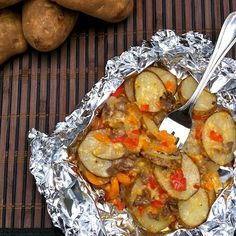 Philly Cheesesteak Potato Packets - A twist on traditional cheesesteak for your next tailgate or fall backyard bbq.
