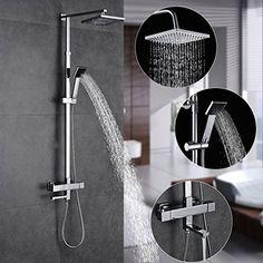 Columna ducha termostatica pared,Auralum® Set de ducha te…