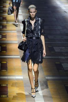 Lanvin Spring 2015. See the best #PFW runway looks here.