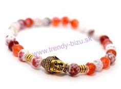 BUDDHA náramok gold ohnivý achát Buddha, Beaded Bracelets, Gold, Jewelry, Jewlery, Jewerly, Pearl Bracelets, Schmuck, Jewels