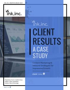 Case Study on Marketing Services for a Client — ClockInEasy Email Marketing Campaign, Inbound Marketing, Marketing Plan, Business Marketing, Content Marketing, Internet Marketing, Marketing Strategies, Media Marketing, Digital Marketing