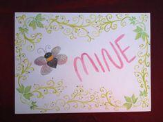 Bee Mine Valentine Watercolor Poster by ReprievesCorner on Etsy, $4.99