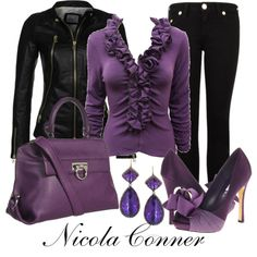 """""""Purple"""" by nicola-conner on Polyvore"""