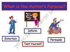 Author's Purpose Power Point Lesson