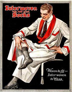 Interwoven Socks by J C Leyendecker (German/American 1874- 1951)