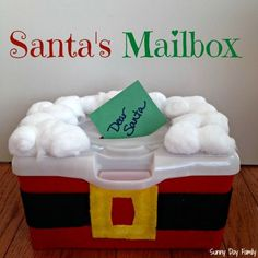 Make Santa's Mailbox! Perfect place for your letters to Santa - also makes a great activity for toddlers and preschoolers! {Sunny Day Family}
