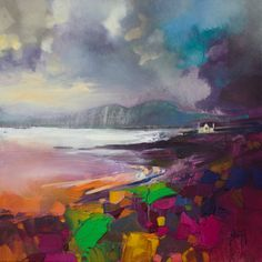Broadford Shore  ~ Scottish landscape painting by Scott Naismith