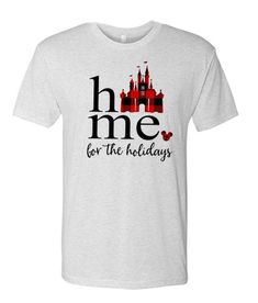 Disney Christmas – Home for the Holidays awesome T Shirt Disney Christmas, Christmas Home, Grey And White, Cool T Shirts, Harry Potter, Holidays, Awesome, Mens Tops, Stuff To Buy