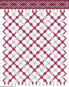 Muster # 58365, Streicher: 18 Zeilen: 20 Farben: 2