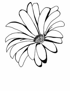 'Spring time' by Spring time flower ✿ Flower Outline, Flower Art, Flower Sketches, Drawing Sketches, Outline Drawings, Easy Drawings, Fabric Painting, Painting & Drawing, Watercolor Flowers