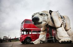 Juxtapoz Magazine - 'Aurora,' Christopher Kelly's Massive Polar Bear Puppet