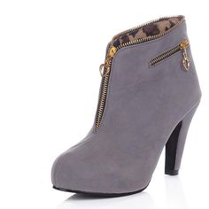 71.68$  Watch now - http://alivj7.worldwells.pw/go.php?t=32491109012 - Airfour Autumn Women Boots Fashion Warm Pointed Toe Thin High Heels Flock  Ankle Boots Casual Shoes Woman Size Plus 34-43