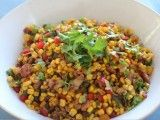 Get Siba Mtongana& Ginger and Coriander Corn Salad Recipe from Cooking Channel Corn Salad Recipes, Corn Salads, Easy Salads, Summer Vegetable Recipes, Healthy Summer Recipes, Vegetable Salads, Easy Chinese Recipes, Asian Recipes, Easy Recipes