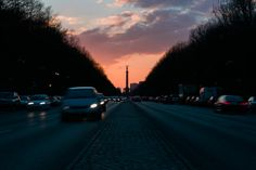 berlin siegessäule sunset