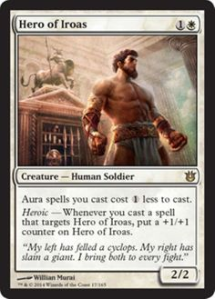 mtg-budget-WHITE-DECK-Magic-the-Gathering-theros-rares-hero-of-iroas-NM