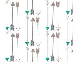 arrows fabric/wallpaper by bwarner on Spoonflower