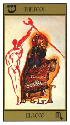 View the The Fool in the Salvador Dali deck on Tarot.com